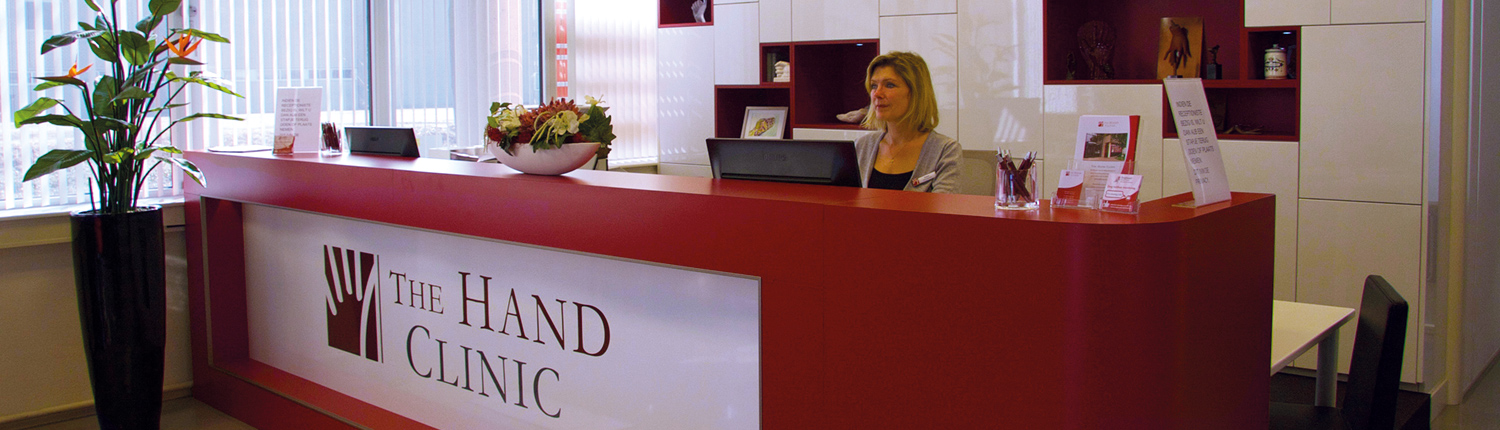 Receptie The Hand Clinic